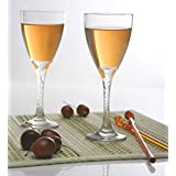 Pasabahce Crystal Cut Twist Red Wine Glass Set,210 ml,Set of 6