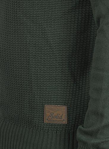 SOLID Terrance Herren Strickpullover Feinstrick Pulli mit Rundhals-Ausschnitt aus hochwertiger Baumwollmischung Meliert Rosin M (3400)