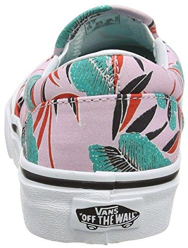 Vans Uy Classic Slip-On, Baskets Basses Fille Rose (Tropical Leaves Pink Lady)