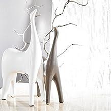 Pure. Estilo de vida–Creative caballos (Juego de 2)–Figura de cerámica decoración animales de porcelana esculturas estatuas manualidades boda regalos, Bienvenido a casa calentamiento regalo de Navidad regalos de cumpleaños