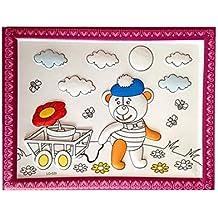 Fai da te Kids Painting Coloring Palette Disegni da disegno concavo-convesso con penne [Orso]
