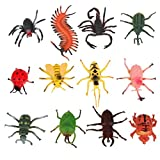 ROSENICE 12pcs Mini Insect Bug Animal Figures Toys Joke Trick Gag Toy