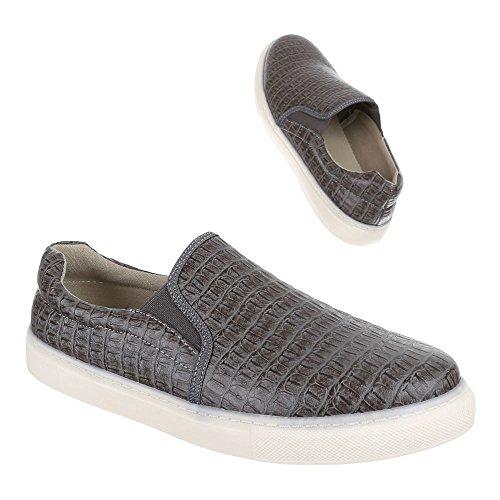 Ital-Design Uomo mocassini grigio - grigio