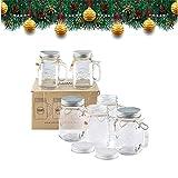 Smith's Mason Jars Lot de 6 tasses bocal Mason avec couvercles 473 ml