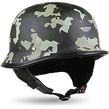 cca866dff96da MOTO HELMETS® D33 Army Woods · Brain de Cap · semiesférico (Jet de casco de  moto casco Roller de casco de scooter Casco Retro · cierre rápido Bolsa XXL  (63 ...