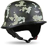 Moto Helmets® D33 Casque de moto demi-coque avec fermeture rapide Casque...