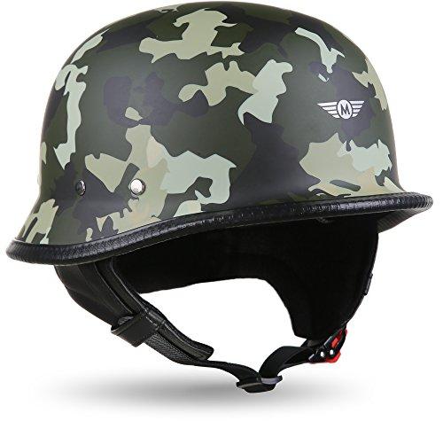 MOTO HELMETS® D33 Army Woods - Casco semi-integrale per scooter e scooter, taglia XL (61-62 cm)
