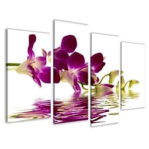 Visario 6132 - Foto su tela con orchidea, 130 x 80 cm