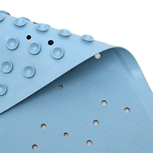 Lora Bella Badewanne Rutschmatte aus Naturkautschuk, PVC Frei, Anti-Rutsch, Extra Lang 36x96cm und starken Saugnäpfen - Blau