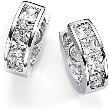 Elegante Pendiente de cristal plata Energetix 4you Magnetix 1808 1809P Joyería Magnética aro Ø 1,7 con imán de neodimio + bolsa de la joyería