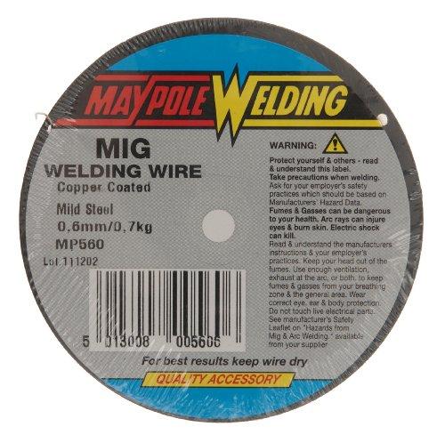 Preisvergleich Produktbild Maypole 560 Schweißdraht, für MIG-Schweißen, 0,7kg, 0,6mm, aus Stahl