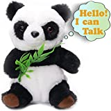 Talking Panda - Cute Mimic Plush Toy - Repeats What You Say - Perfect Electronic Pet For Kids - Interactive Learning Gift - Animal Toy Bamboo Baby Panda - Talking Hamster Variation