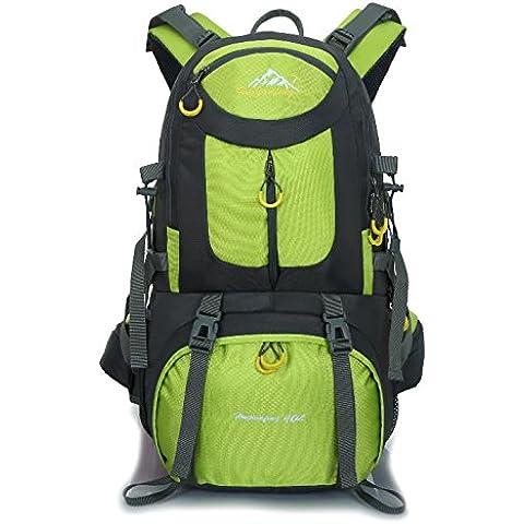 Impermeabile di 40 litri professionale all'aperto alpinismo escursionismo forniture di pesca campeggio zaino nuovo 50L , green 40l - Camelbak Bambini Zaino