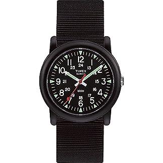 Timex Quarz T18581 PF – Reloj Unisex de Cuarzo, Correa de Textil Color Negro