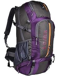 50L bolsos de montaña profesionales viajan mochila ventilación equipo de campamento , purple