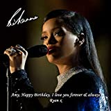 Rihanna 1 Personalised Gift Print Mouse Mat Autograph Computer Rest Mouse Mat Compatible with Laser and Optical Mice (with Personalised Message)