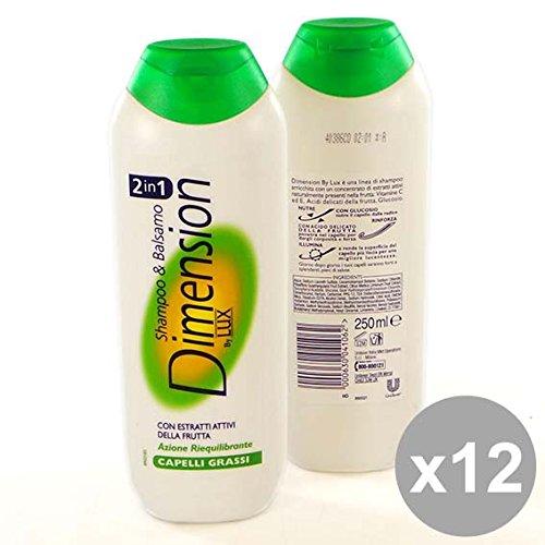 Set 12 DIMENSION Shampoo 2In1 250 Grassi Prodotti per capelli