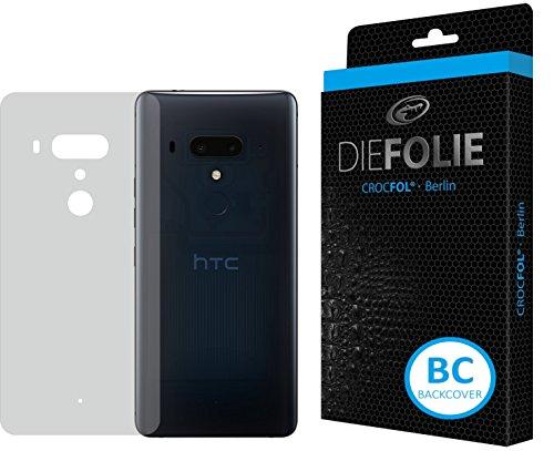 Crocfol Rückseitenschutz für HTC U12 Plus: 2X DIEFOLIE Schutzfolie, 1x DASFLÜSSIGGLAS flüssiges Glas - Backcover Folie zum Schutz der Rückseite