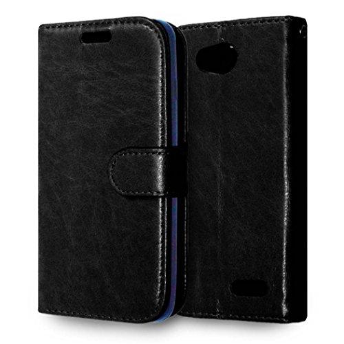 casefirst LG L90 Wallet Case, LG L90 Leather Case, Premium PU Leather Anti-Scratch Folio Stand Bumper Back Cover for LG L90 - Black (Lg L90 Case Folio)