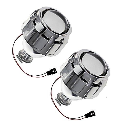 Juego de 2 unidades de protector del lente proyector del coche, cobertor para las luces de la óptica delantera de coche, de 6,35cm, de descarga de alta intensidad Bi-Xenon con recubrimiento para vehículos de luces H1, H4 H7 con volante del lado derecho (compatibilidad no garantizada con vehículos con conductor en lado izquierdo)