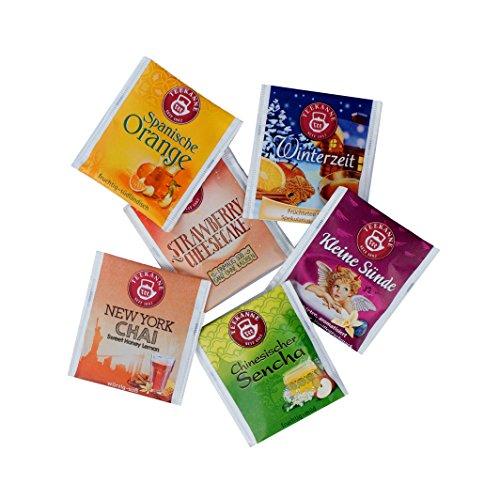 Adventskalender Füllung Set mit 6 Teesorten (Beutel) zum Befüllen (Inhalt wahlweise mit 3, 6, 12 oder 24 Stück)