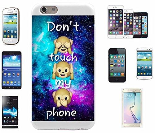 """Preisvergleich Produktbild Smartphone Case Samsung Galaxy S6 Edge+ Plus """"Dont Touch my Phone Drei Affen Sehen Hören Sagen"""", der wohl schönste Smartphone Schutz aller Zeiten."""