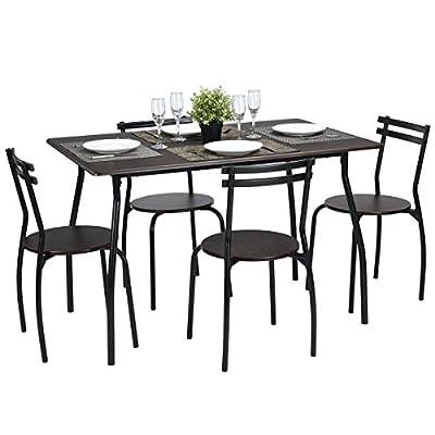 FurnitureR Set of 4 Dining Table & Chair Sets - low-cost UK light shop.