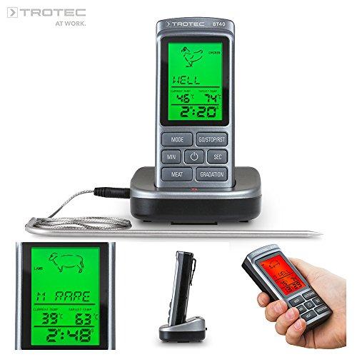 TROTEC 3510205007 BT40 Ofenthermometer | Funk bis 250 °C | BBQ