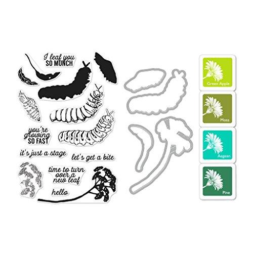 Hero Arts Farbe Schichtung Raupe Bundle klar Gummi-Stempel-Set sterben Set & Stempel Pad Set (SB182) (Bundle-art Supplies)