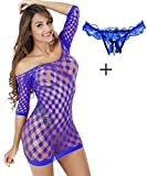 Lemongirl Women Net Bodysuit Free Size Dresses for Ladies Babydoll Bodysuit With One Lace G-string