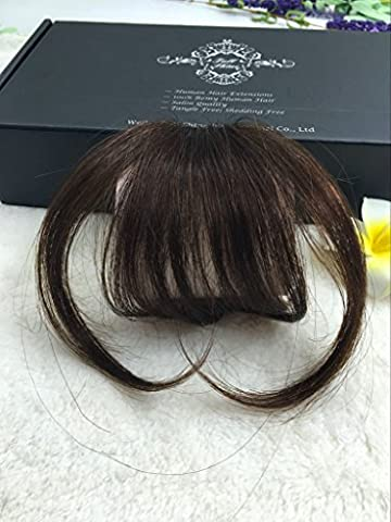 Full Shine Air Fringe Bangs Clip in Hair Extensions Front