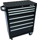 DeTec. Werkstattwagen Werkzeugwagen | leer | 7 Schubladen in schwarz | ohne Werkzeug