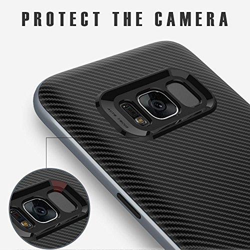 Schutzhülle Samsung Galaxy S8 Hülle, Ubegood Galaxy S8 Handyhülle Tasche Bumper Case Soft Silikon Case für Samsung Galaxy S8 Case Cover (5,8″) – Jet Schwarz - 3
