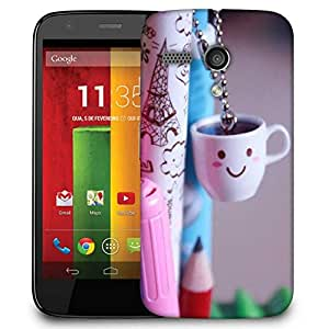 Snoogg Smile Cups Case Cover For Motorola G / Moto G