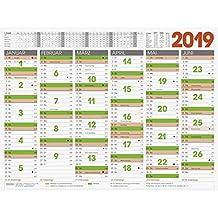 BRUNNEN Tafelkalender A6 1 Seite = 6 Monate 2019