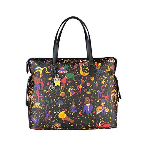 Borsa Shopping Grande PIERO GUIDI MAGIC CIRCUS Nera Nuova Collezione art.2124N
