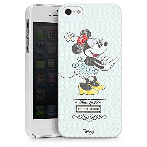 Apple iPhone X Silikon Hülle Case Schutzhülle Disney Minnie Mouse Vintage Geschenke Merchandise Hard Case weiß