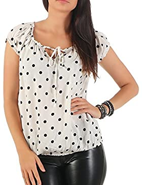 ZARMEXX Fashion - Camisas - Túnica - Lunares - para mujer
