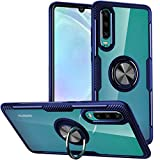 WATACHE Huawei P30 Case, Clear Crystal Carbon Fiber Design