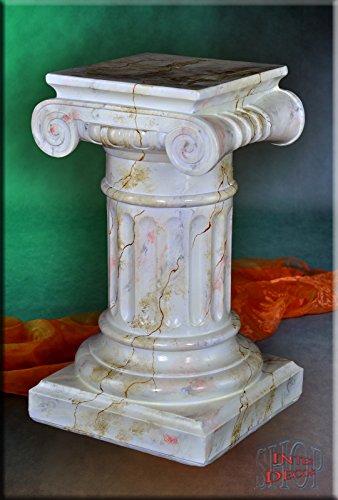 InterDecorShop Griechische Säule Antik Blumensäule Marmor Optik Dekosäule Blumenständer Stuckgips -