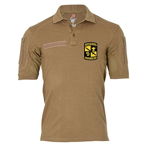 Tactical Poloshirt Alfa - Emblem des Reserve Officer Training Corps Polo Hemd #18973, Größe:5XL, Farbe:Khaki