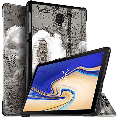 ELTD Hülle für Samsung Galaxy Tab S4 T830/T835, Ultra Leightweight Flip mit Ständer und Eingebautem Magnet PU Leder Hülle für Samsung Galaxy Tab S4 T830/T835 10.5 Zoll 2018 (Brown Tower)