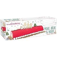 SCRAP COOKING 1921 Kit Moule Bûche de Noël & Insert, PVC Semi-rigides & Réutilisables, Accessoires Pâtisserie Dessert de…