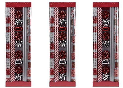 Eliware 3X 13 Teiliges Geschenkpapier-Set | 4X 200x70cm