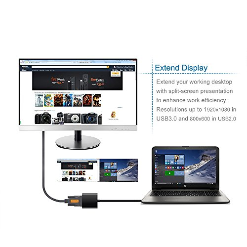 Upgraded Version VicTop USB 30 to VGA Adapter Converter External Video Card Multi monitor Adapter for PC Laptop Windows 10 81 8 7 XP Fibre Optic Cables