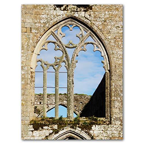 Abbaye Beauport - Exklusives Künstlermotiv, XXL Bild / Wandbild, Größe: 60 x 80 cm Hoch-Format,...