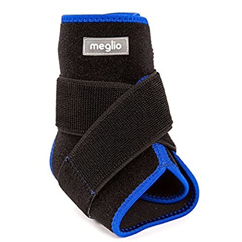 Meglio Neoprene Ankle Support – With Breathable Design – Supports during Sport & Running – Acts as a Brace Ligament Damage & Achilles Weakness - One Size Fits All
