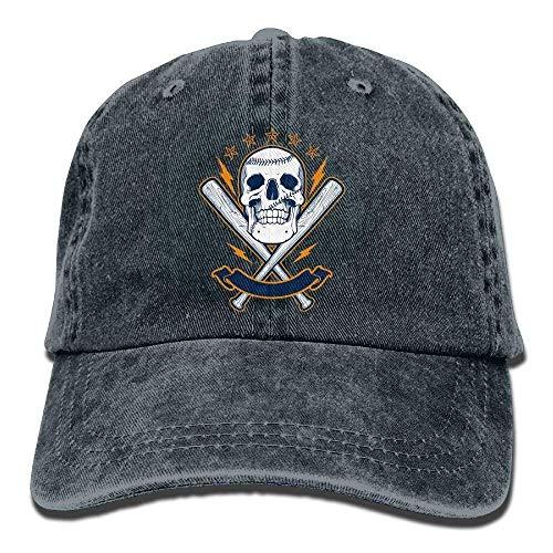 ruishandianqi Baseball Denim Baseball Caps Hat Adjustable Cotton Sport Strap Cap for Men Women