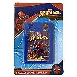 Puzzle Gioco 12 Pezzi Spiderman Uomo Ragno Marvel Supereroe - in Plastica - SP0498