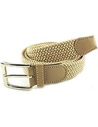MYB Cintura elastica intrecciata per Uomo e Donna - diversi colori e  dimensioni 92bff764a00